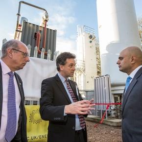 Sajid Javid MP opens University's cryogenic energy storage pilotfacility